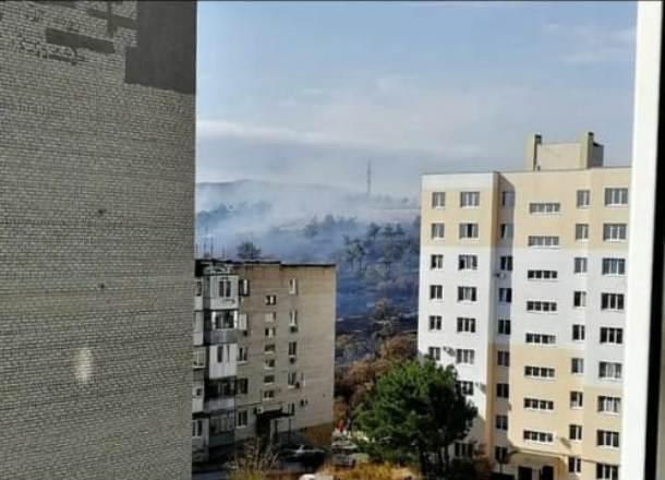 В Геленджике горят леса