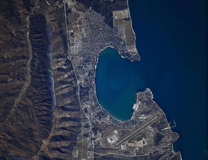 Геленджик сфотографировали с борта Международной станции
